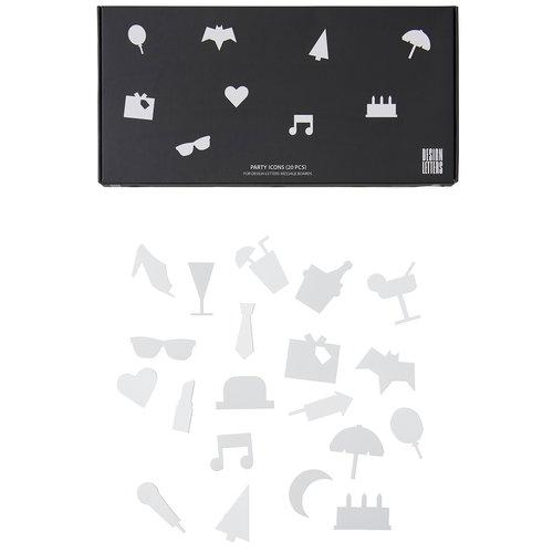 Design Letters Muistitaulun juhlakuviot, valkoinen