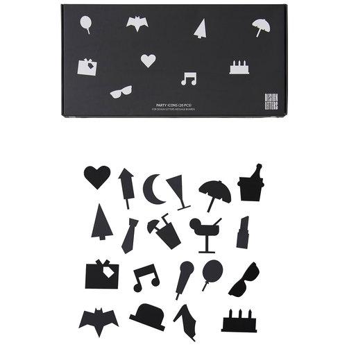 Design Letters Muistitaulun juhlakuviot, musta