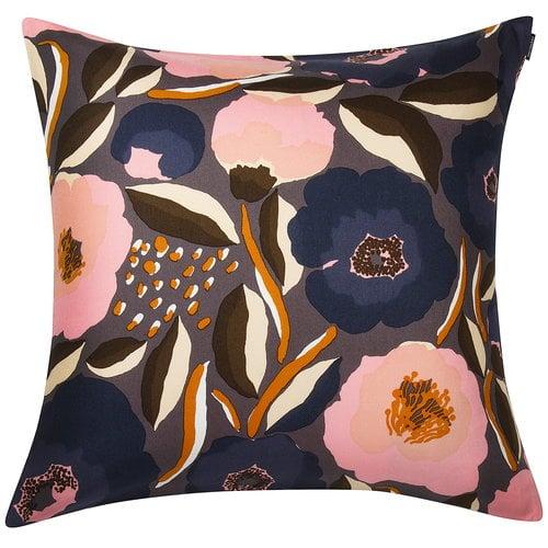 Marimekko Rosarium tyynynp��llinen 50 x 50 cm, tummanharmaa