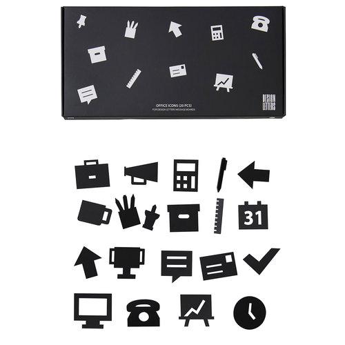 Design Letters Muistitaulun toimistokuviot, musta