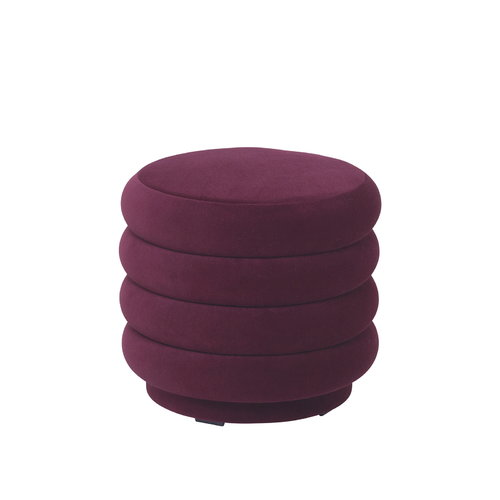 Ferm Living Pouf Round, small, bordeaux