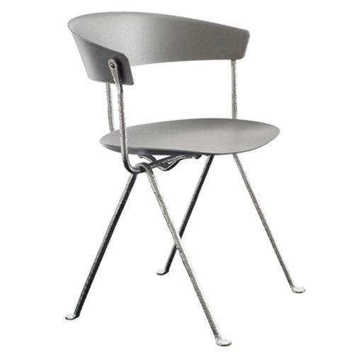 Magis Officina tuoli, galvanoitu, harmaa