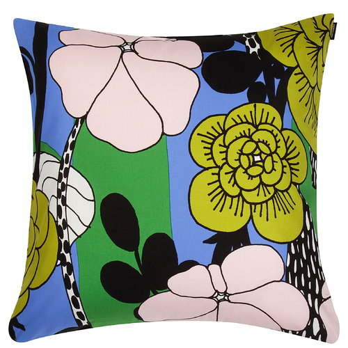 Marimekko Unelma cushion cover, light blue-green-pink