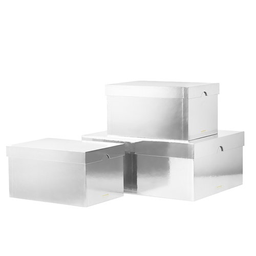 Normann Copenhagen Metallic boxes 3 pcs, silver
