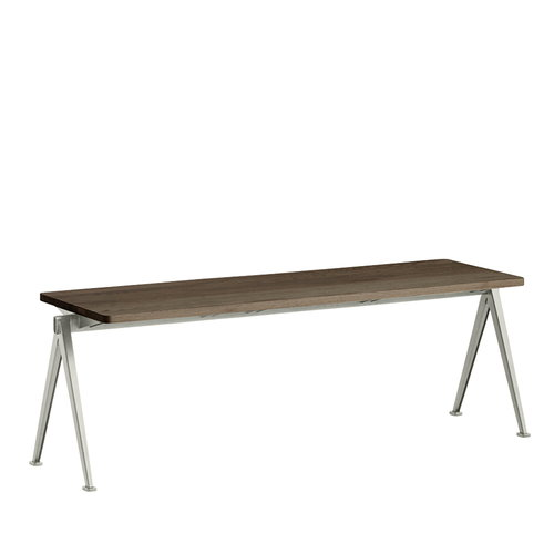 Hay Pyramid bench, beige - smoked oak