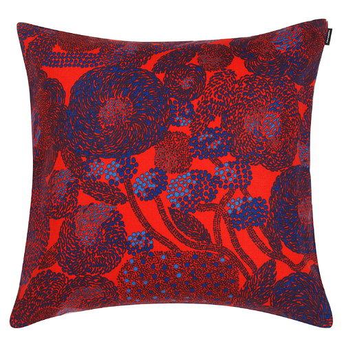 Marimekko Mynsteri cushion cover 50 x 50 cm, red - blue