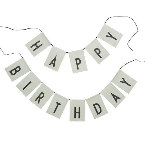 Design Letters Happy Birthday lippunauha, vaaleanvihreä