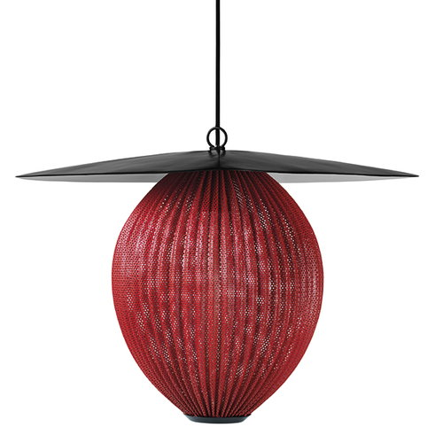 Gubi Satellite pendant, medium, shy cherry