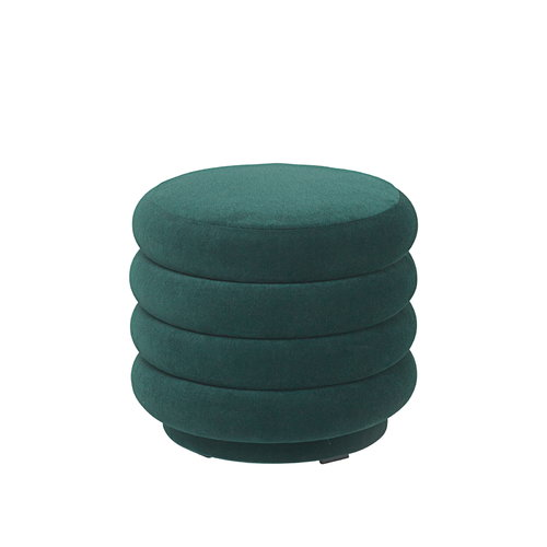 Ferm Living Pouf Round, small, dark green