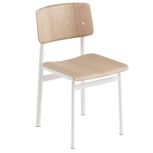 Muuto Loft chair, white - oak