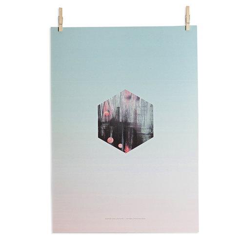 Paper Collective Hexagon Fade poster