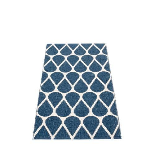 Pappelina Otis matto 70 x 140 cm, ocean blue - vanilla