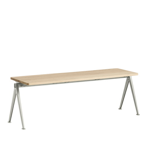 Hay Pyramid bench, beige - matt lacquered oak