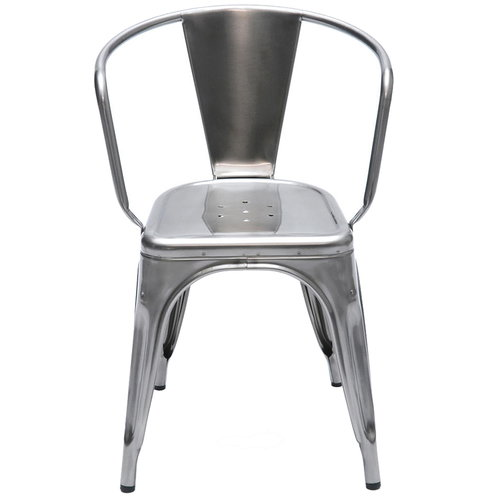 Tolix A56 chair, stainless steel, for outdoors