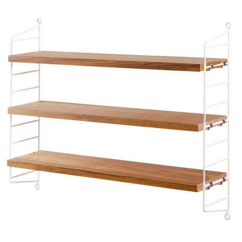 String String Pocket shelf, oak-white