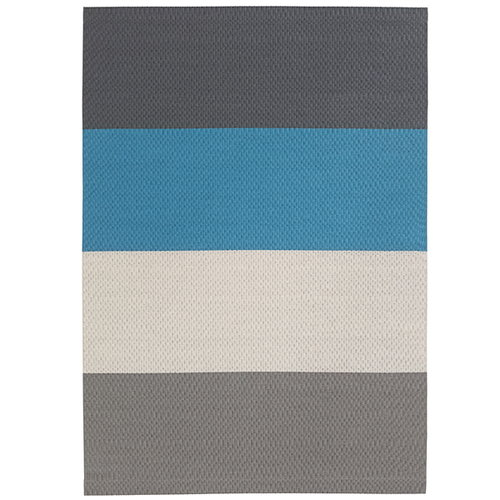 Woodnotes Fourways carpet with backing, turquoise-graphite