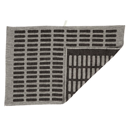 Artek Siena tea towel 2pcs, white-black