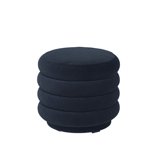 Ferm Living Pouf round, small, dark blue