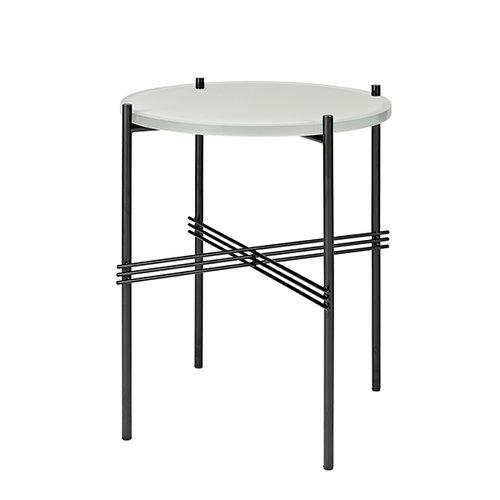 Gubi TS sohvap�yt�, 40 cm, musta - valkoinen lasi