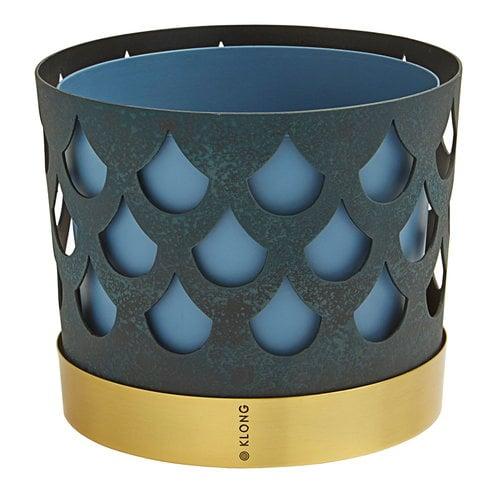 Klong Trio flower pot, blue drop