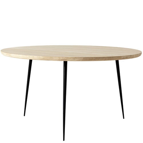 Mater Disc side table, medium, soaped oak