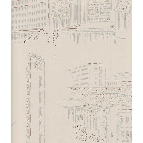 Pihlgren ja Ritola Helsinki wallpaper, light beige