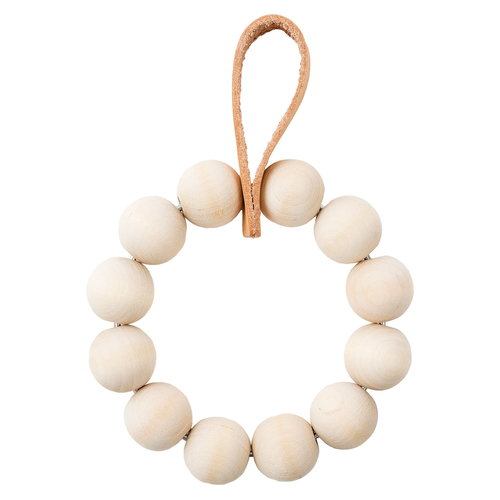 Verso Design Kranssi wreath S, birch - leather