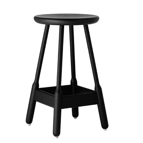 Massproductions Albert bar stool, black stained oak