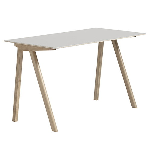 Hay Copenhague CPH90 desk, soaped oak-off white linoleum