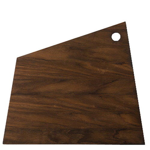 Ferm Living Asymmetric cutting board, large, smoked oak