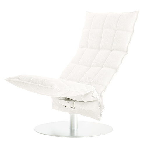 Woodnotes K chair, swivel base, narrow, white