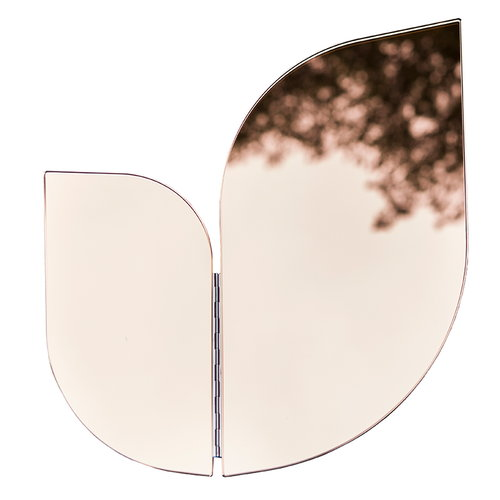 Katriina Nuutinen Perho mirror, medium, pink/copper