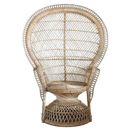 Parolan Rottinki Peacock-tuoli, luonnonv�rinen/ hiekka