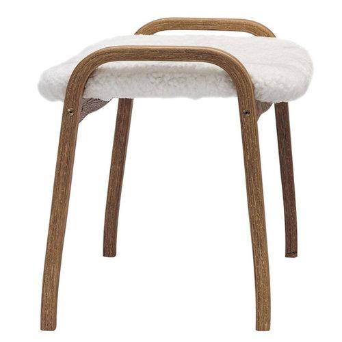 Swedese Lamino stool, sheepskin, natural white