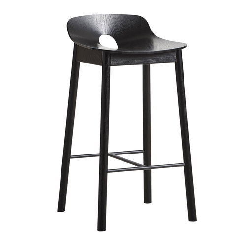 Woud Mono bar stool 65 cm, black