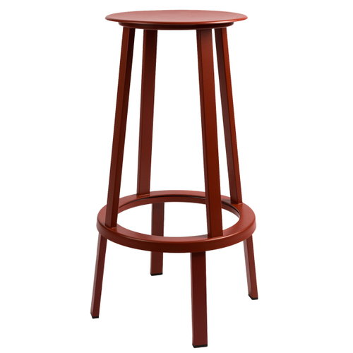 Hay Revolver bar stool, red