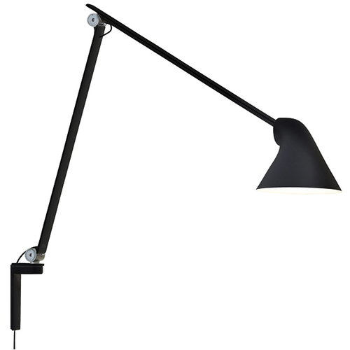 Louis Poulsen NJP wall lamp, long arm, black