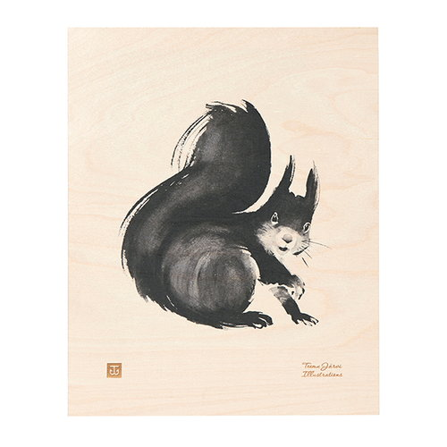 Teemu J�rvi Illustrations Squirrel plywood poster