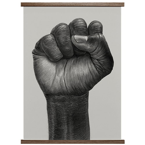 Paper Collective Raised Fist poster