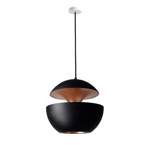 DCW �ditions Here Comes The Sun 450 pendant, black - copper