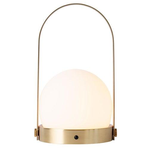 Menu Lampada da tavolo Carrie LED, ottone spazzolato