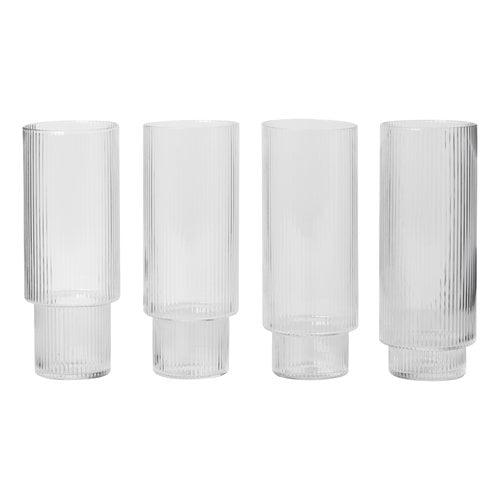 Ferm Living   Ripple long drink glasses, 4 pcs