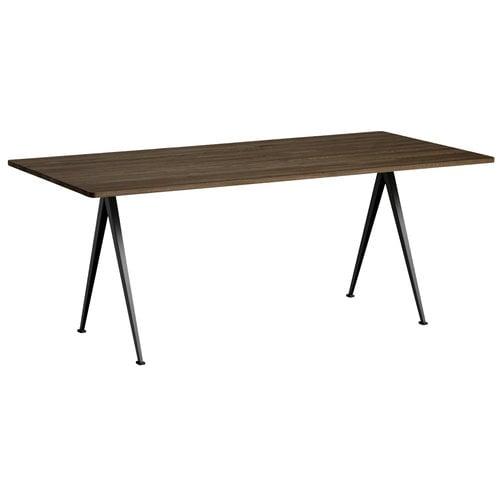 Hay Pyramid table 02, black - smoked oak