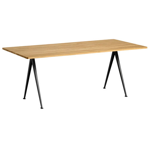 Hay Pyramid table 02, black - lacquered oak
