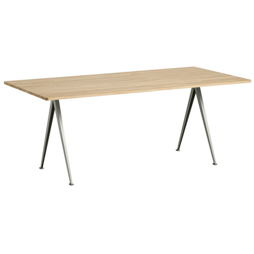 Hay Pyramid table 02, beige - matt lacquered oak