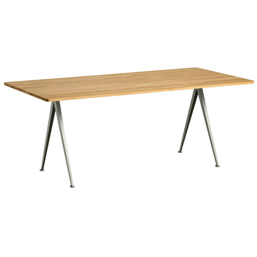 Hay Pyramid table 02, beige - lacquered oak