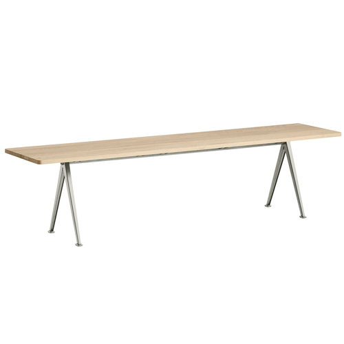 Hay Pyramid bench 12, beige - matt lacquered oak