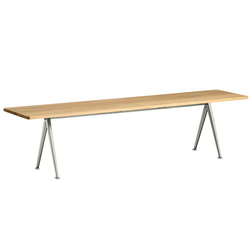 Hay Pyramid bench 12, beige - lacquered oak