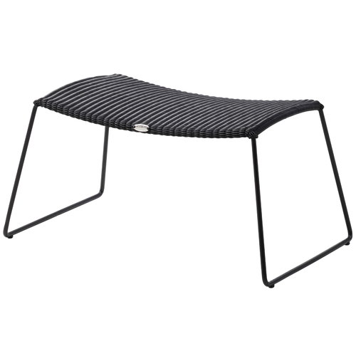 Cane-line Breeze footstool, black