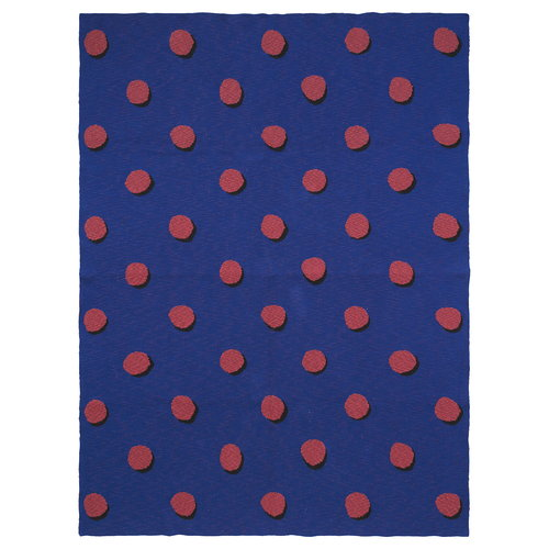 Ferm Living Double Dot torkkupeitto, sininen